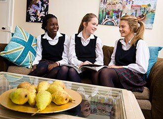 Boarding pupils at Harrogate Ladies' College - a leading UK boarding school