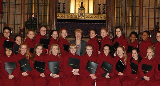 Harrogate Ladies' College shortlisted in BBC School Choir of the Year competition - January 2015