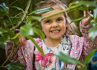 Bankfield Nursery Pupil outdoors