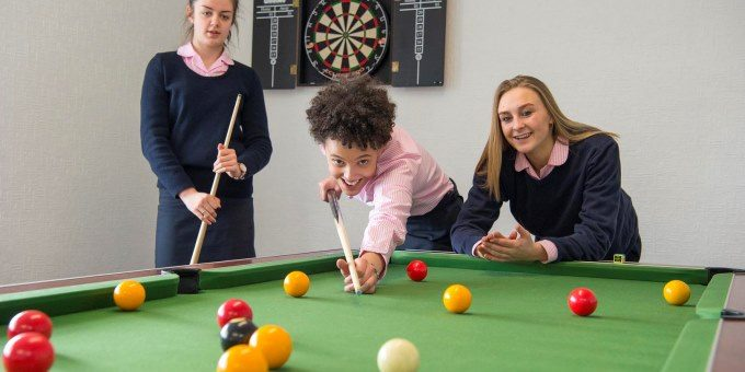 Games Room – Sixth Form facilities at Harrogate Ladies' College