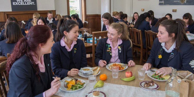 Pupils in Sixth Form Dining Room – Harrogate Ladies' College