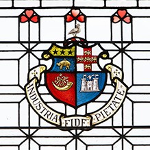 prospectus request for Harrogate Ladies' College – stained glass window