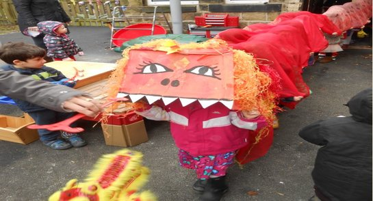 Bankfield Pre-Prep Dragon Parade for Chinese New Year