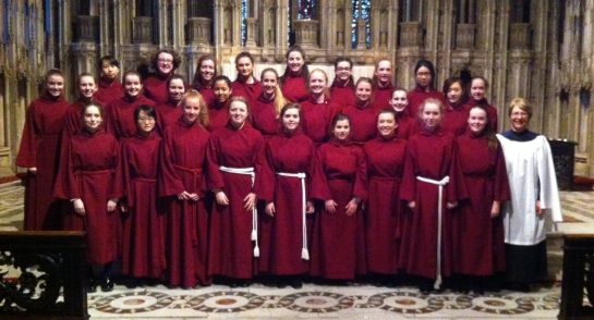Harrogate Ladies' College Chapel Choir at Durham Cathedral