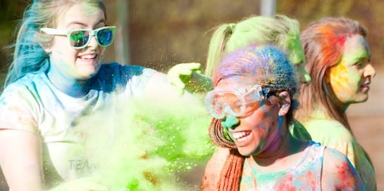 Colour Run at harrogate Ladies' College, leading private school in North Yorkshire