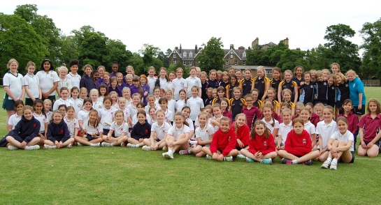 Pupils from across the Harrogate district at the Junior Rounders Extravagnza hosted by Harrogate Ladies' College