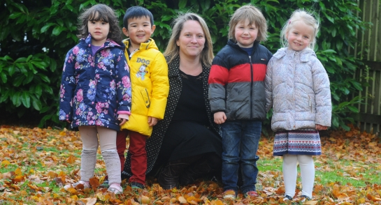 Bankfield Pre-Prep pupils with Mrs Fenton