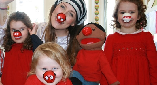 Fairy Enchantica joins children at Bankfield Nursery and Pre-Prep for a Red Nose Day adventure