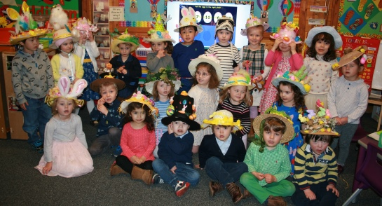Bankfield Pre-Prep children display their Easter Bonnets