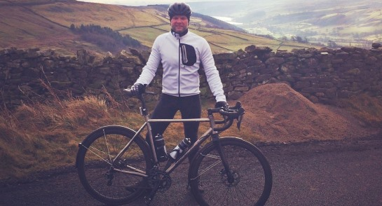 Mr Greenhalgh trains for his solo cycle challenge to raise money for St Michael's Hospice