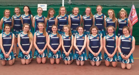 Harrogate Ladies' College U14 Netball Squad at the International Junior Netball Festival in Paris