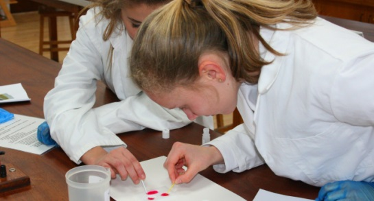 Harrogate Ladies' College pupils conduct forensic tests
