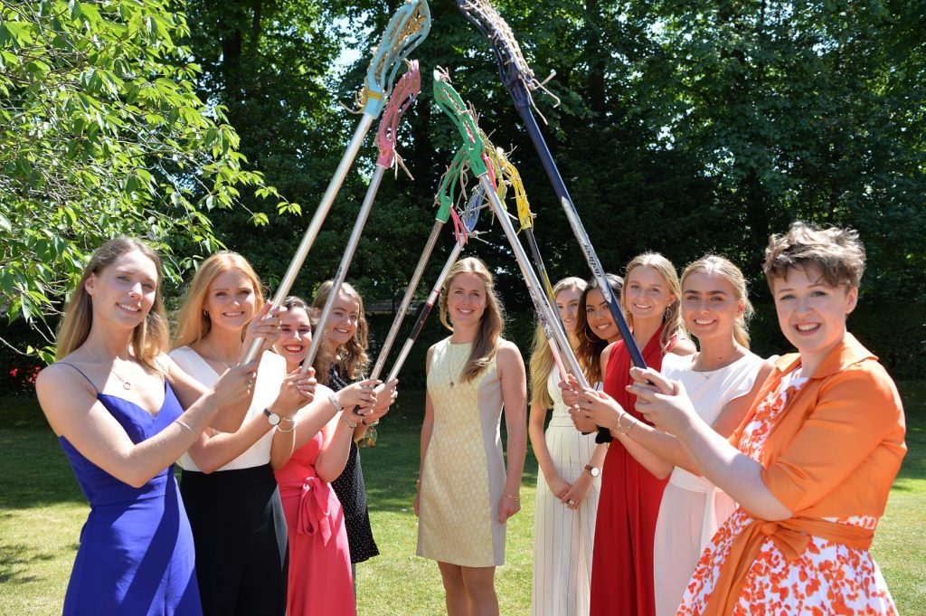 Guest Speaker Former Head Girl Hannah Lowther and Harrogate Ladies' College Head Girl and Sixth Form Prefects