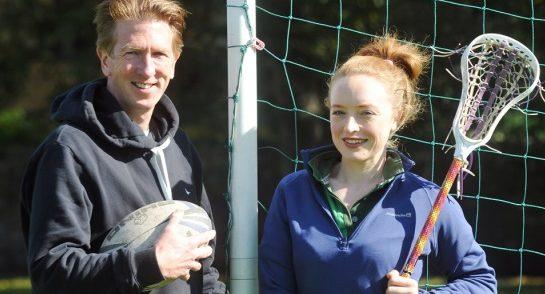 Highfield Head of Boy's Sport Mr Reilly and Head of Girl's Sport Miss Hackett