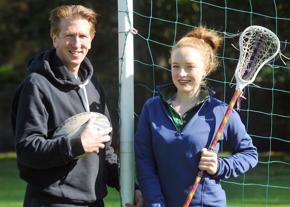 Highfield Head of Boy's Sport Mr Reilly and Head of Girl's Sport Miss Hackett