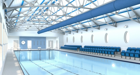 Artist's impression for the re-developed Swimming Pool Complex at Harrogate Ladies' College