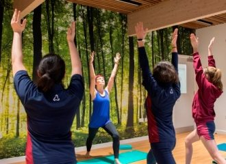 Yoga class in Wellness Centre